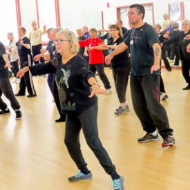 "Shifu Diane Hoxmeier Rabinowitz leads a ""Tai Chi Tune Up"""