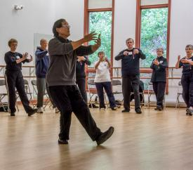 FuTung Cheng instructing at October 2015 workshop.